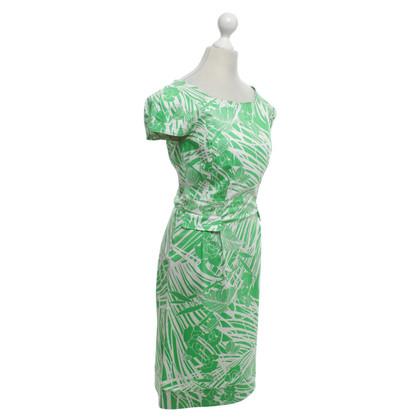 Roberto Cavalli Dress in green / white