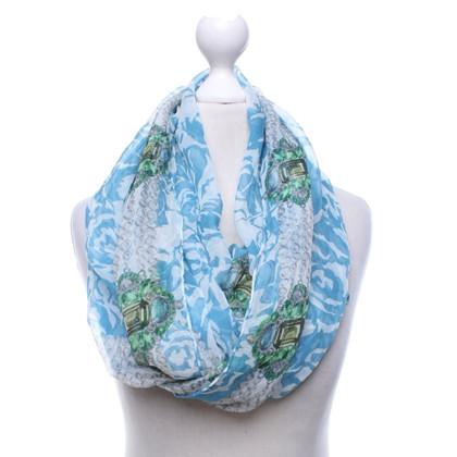 Christian Dior Sciarpa di seta con motivo stampato