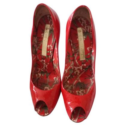 Casadei Peep-dita dei piedi in vernice