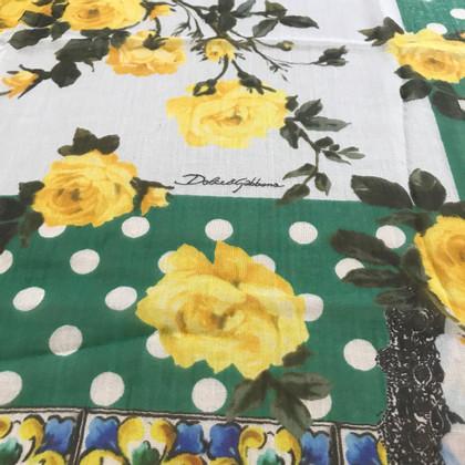 Dolce & Gabbana Panno con motivi floreali