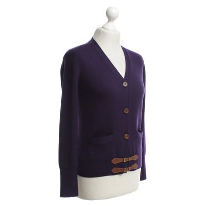 Polo Ralph Lauren Kurze Strickjacke in Violett