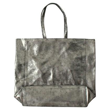 Aridza Bross Handle bag made of suede
