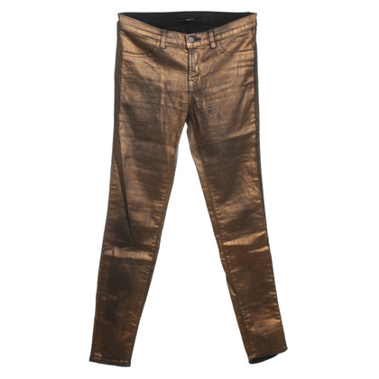 J Brand Jeans in bronze metallic
