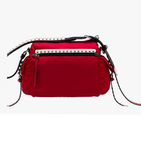 Prada Nylon-Tasche mit Nieten-Besatz Rot Verkauf Neueste Billig Verkauf Erstaunlicher Preis 33wXYPjPqW
