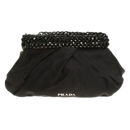 Prada clutch with gemstone trim