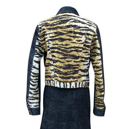 Dolce & Gabbana Jeansjacke mit Tigerprint