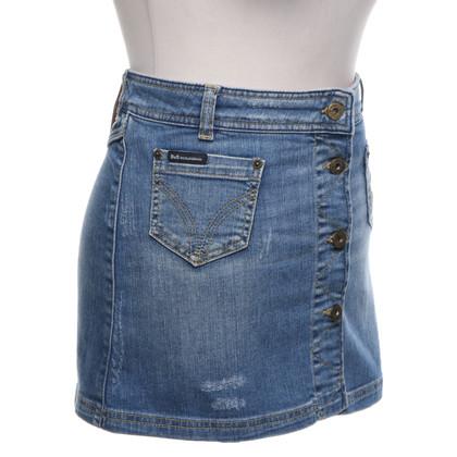 D&G Jupe en jean en look usé