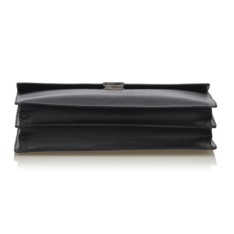 Prada Aktentasche aus Leder Schwarz Billig Footlocker Finish fHfkgB9
