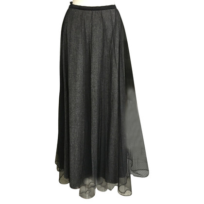 Rena Lange Long wool skirt with a silk content