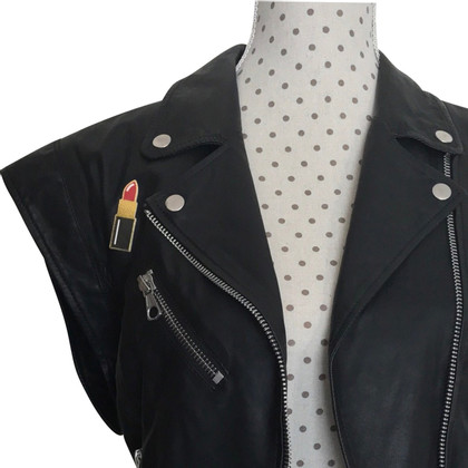 Set Leather vest with patches