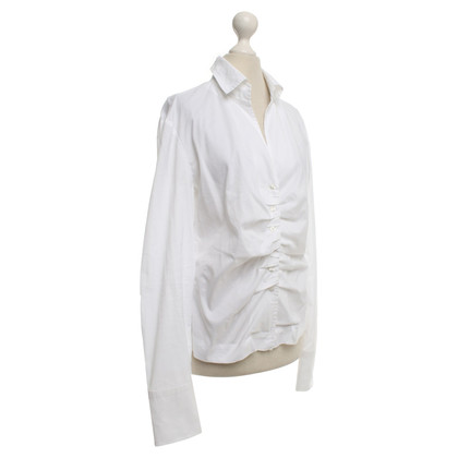 René Lezard Blouse in white