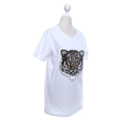 Camouflage Couture T-shirt with reversible sequins