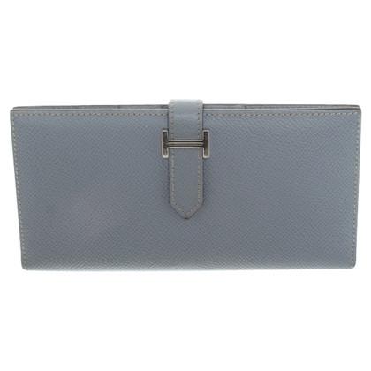 Hermès Wallet in light blue