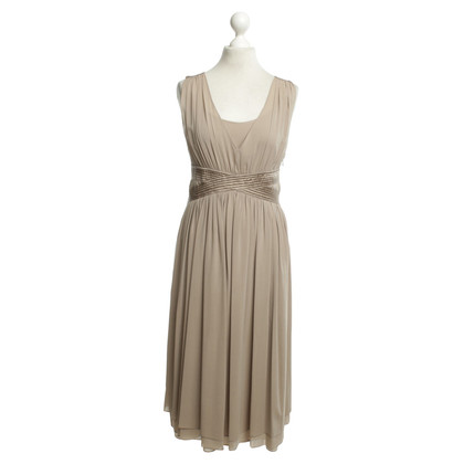 René Lezard Silk dress in taupe