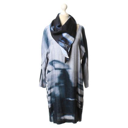 Closed Blaues Kleid mit Tuch
