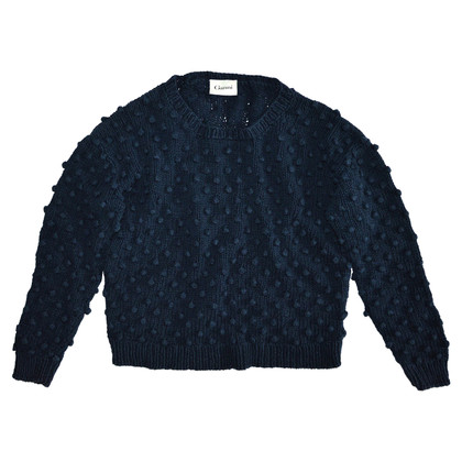 Ganni Donker blauwe trui