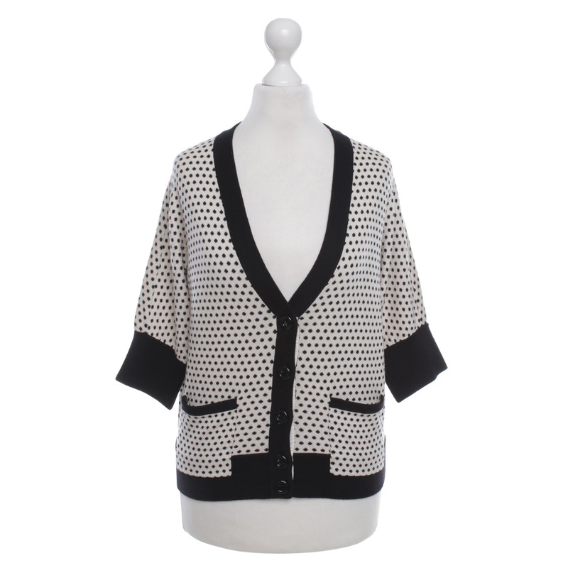 ... Marc by Marc Jacobs Cardigan in bianco / nero ...