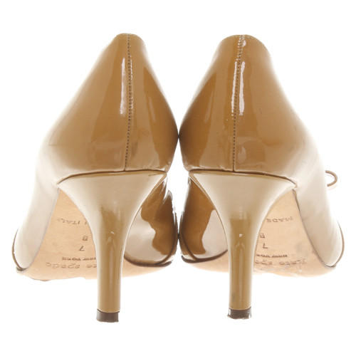 d02826999511 Kate Spade Pumps Peeptoes Patent leather in Ochre - Second Hand Kate ...