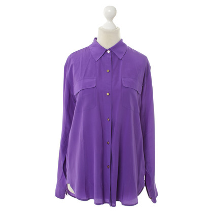 Juicy Couture Seidenbluse in Violett
