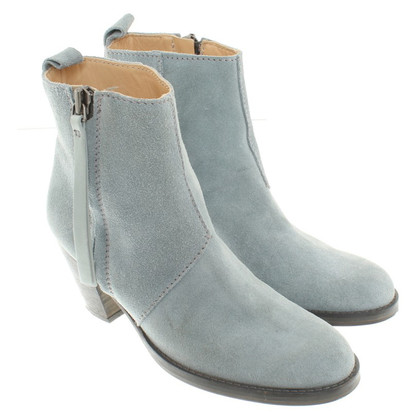 Acne Ankle boots in turquoise blue