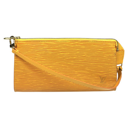 "Louis Vuitton ""Pochette Accessories Epi leather"" in yellow"