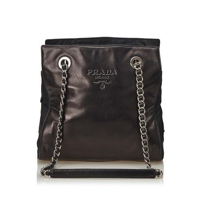 Prada Leren Ketting Tote Bag