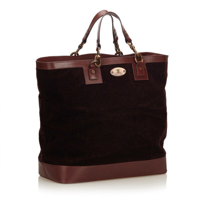 Céline Corduroy Tote Bag
