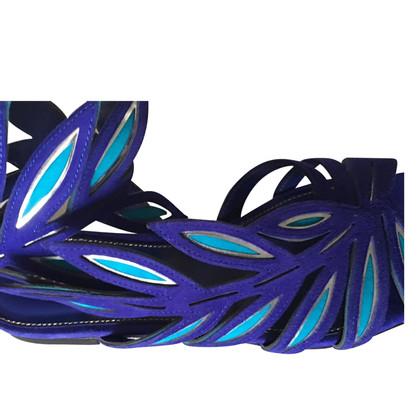 Sergio Rossi Blauwe sandalen