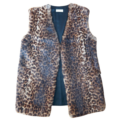 Dries van Noten Gilet con finiture in pelliccia