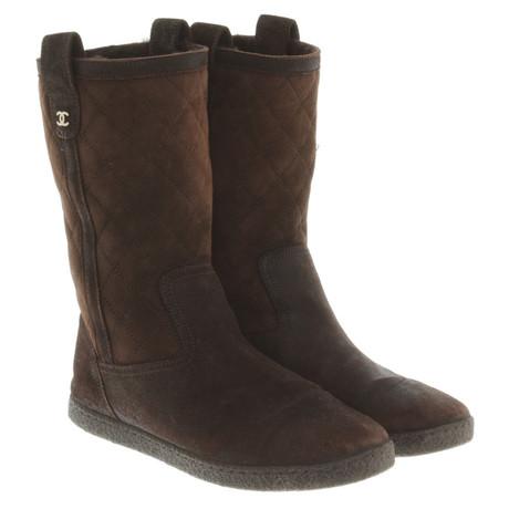 Bestseller Verkauf Online Chanel Boots in Braun Braun Spielraum Große Überraschung Billig Authentisch Auslass MvjnWlbIYg