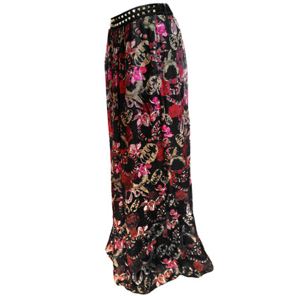 Philipp Plein Multicolored silk skirt