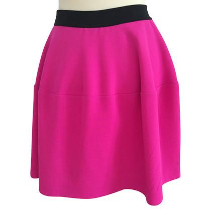 Parosh skirt in pink / black