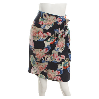 Anthropology Pencil skirt with pattern
