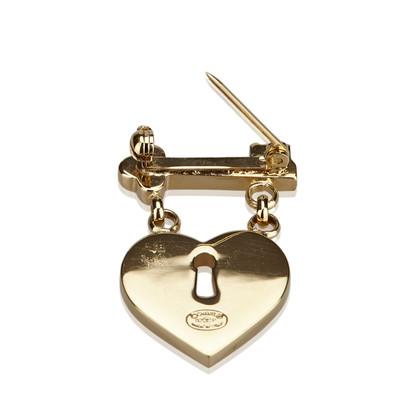 Chanel CC Heart Lock and Key Brooch