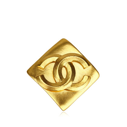 Chanel Gold Toned Metal Brooch