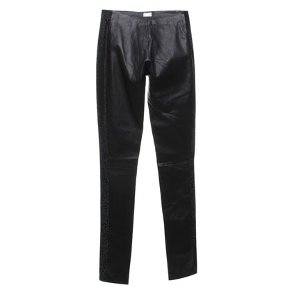 Philipp Plein Leather pants in black