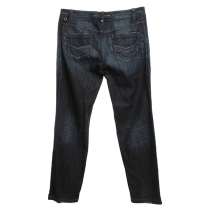 Marc Cain Used-Look Jeans in Blau