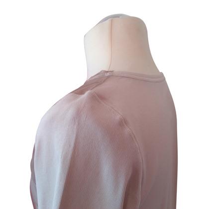 Marc Cain Shirt con ricamo anteriore grigliata