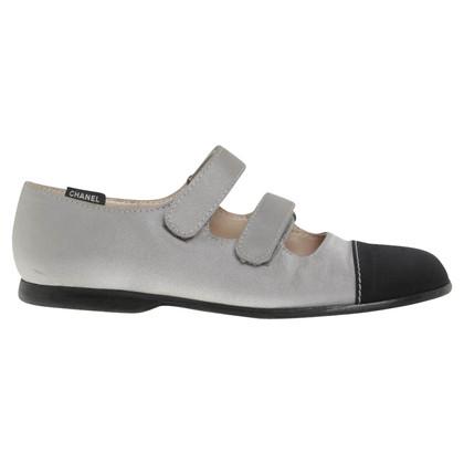 Chanel Ballerinas in black / grey