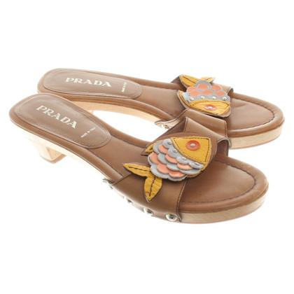 Prada Sandals material mix