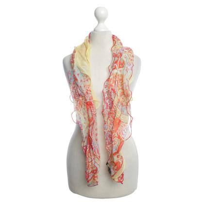 Ralph Lauren foulard de soie froncée