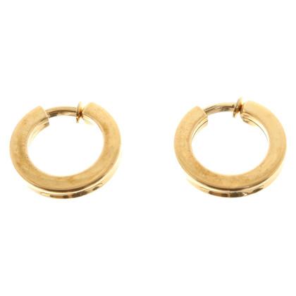 Christian Dior Goudkleurige clip oorbellen
