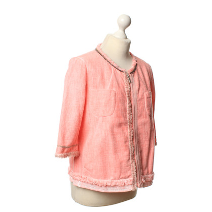 Twin-Set Simona Barbieri Bouclé vest in roze
