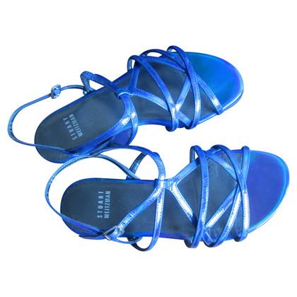 Stuart Weitzman Blaue Sandalen