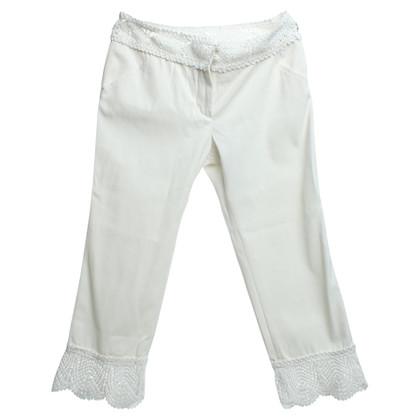 Chanel Pantaloni con dettagli all'uncinetto