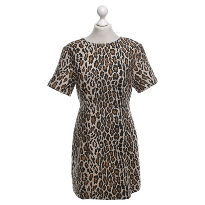 Baum und Pferdgarten Bouclé dress with leopard pattern