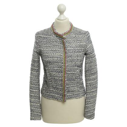 Maje Bouclé blazer with pearl application
