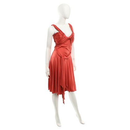Amanda Wakeley silk dress in coral red