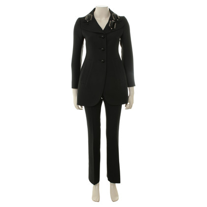Prada Embroidered suit Nero