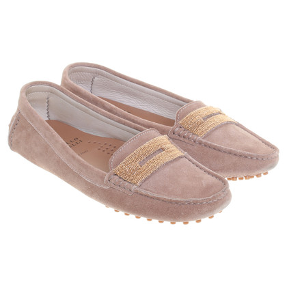 Brunello Cucinelli Slipper in Hellbraun